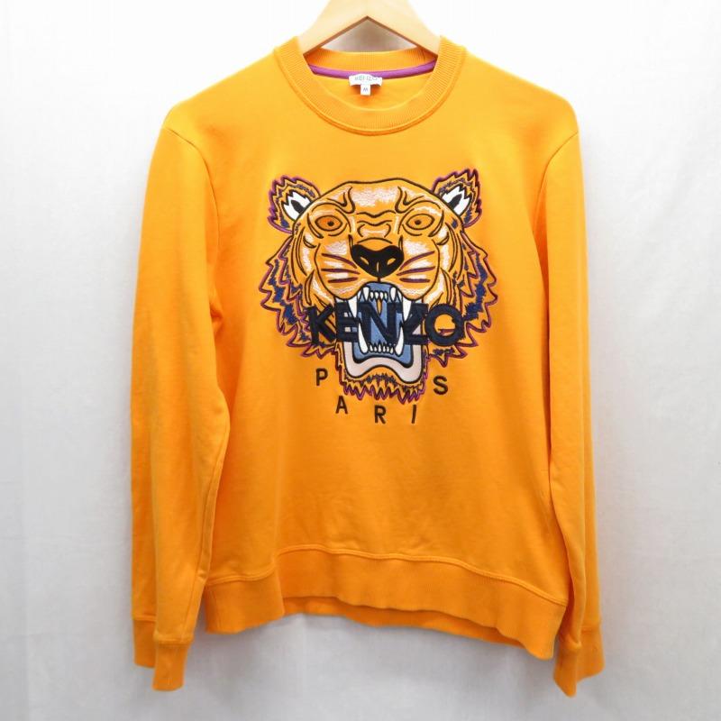 【中古】KENZO/ケンゾー 19SS/TIGER SWEAT スウェット サイズ:M カラー:オレンジ【f108】