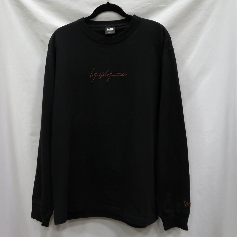 【中古】19aw Yohji Yamamoto NEWERA/ヨウジヤマモト ニューエラ Tシャツ長袖 サイズ:LL カラー:ブラック / ドメス【f104】