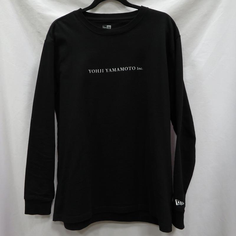 【中古】YOHJI YAMAMOTO ヨウジヤマモト Tシャツ長袖 NEWERAコラボ 20SS サイズ:XL カラー:ブラック / ストリート【f104】