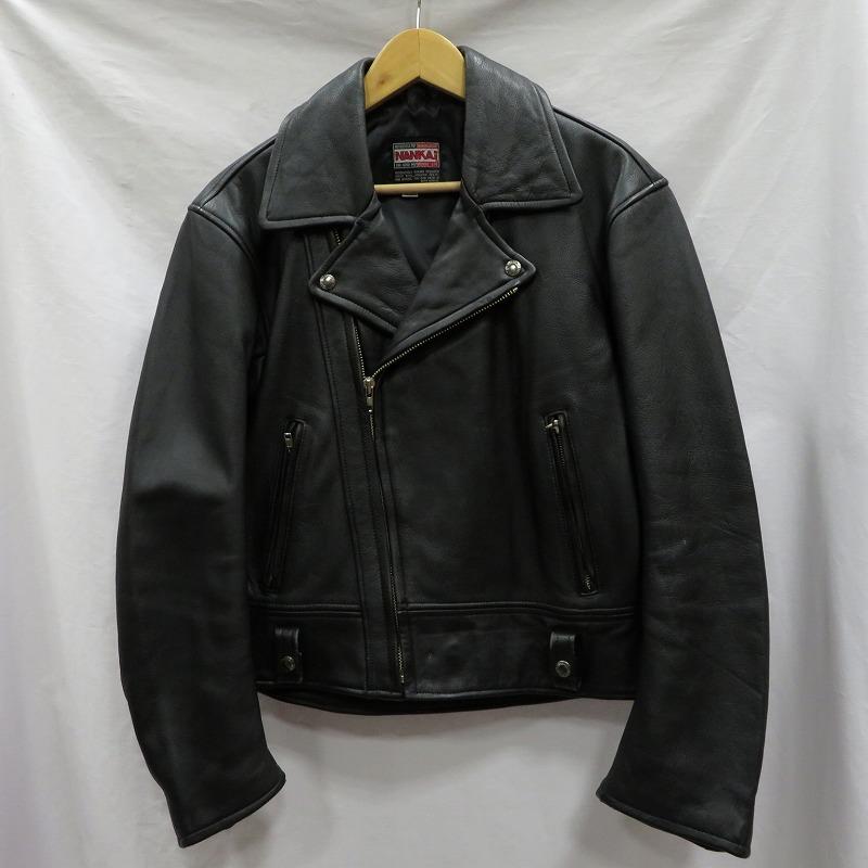 【中古】NANKAI ナンカイ ダブルライダースジャケット サイズ:LL カラー:ブラック / アメカジ【f093】