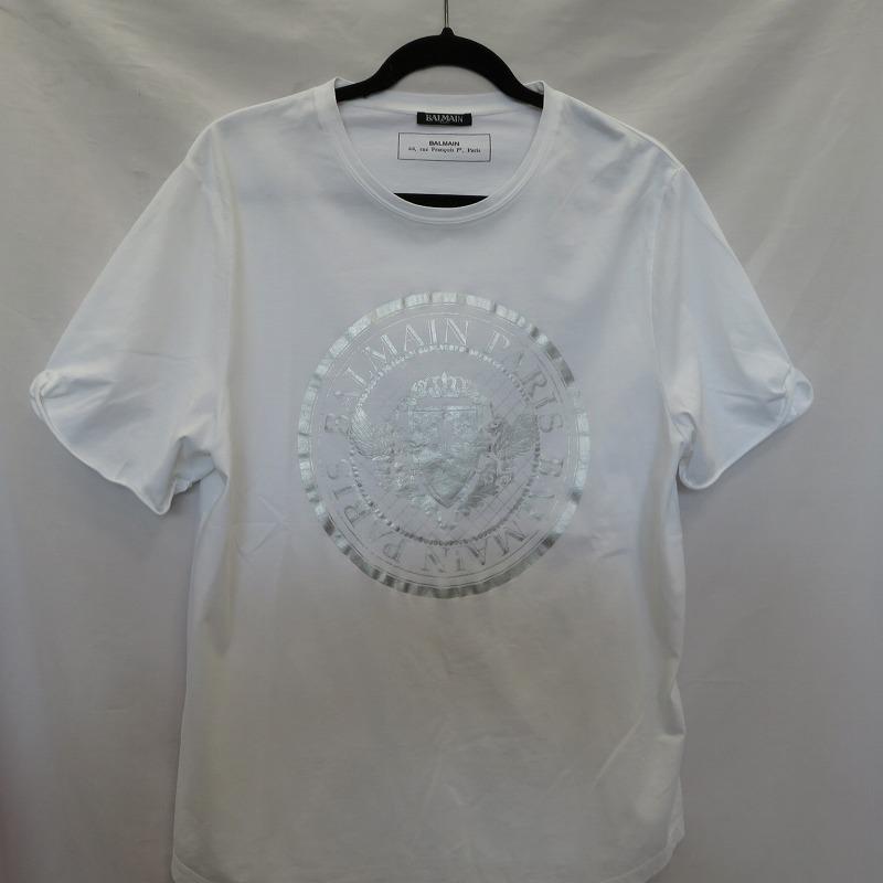 【中古】BALMAIN バルマン メダリオン Tシャツ半袖 19SS サイズ:XXL カラー:ホワイト / インポート【f108】