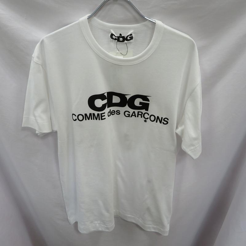 【中古】CDG COMME des GARCONS/シーディージー コムデギャルソン LOGO TEE Tシャツ半袖 サイズ:L カラー:ホワイト / ストリート【f108】