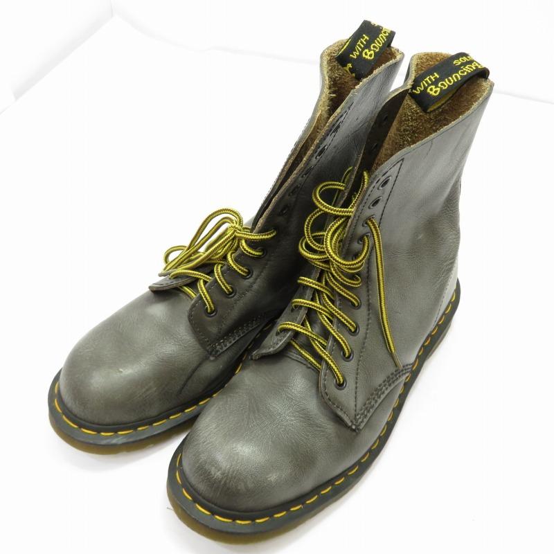 【中古】Dr.Martens/ドクターマーチン 1919/10ホールブーツ サイズ:UK9(約27.5cm) カラー:グレー系【f127】