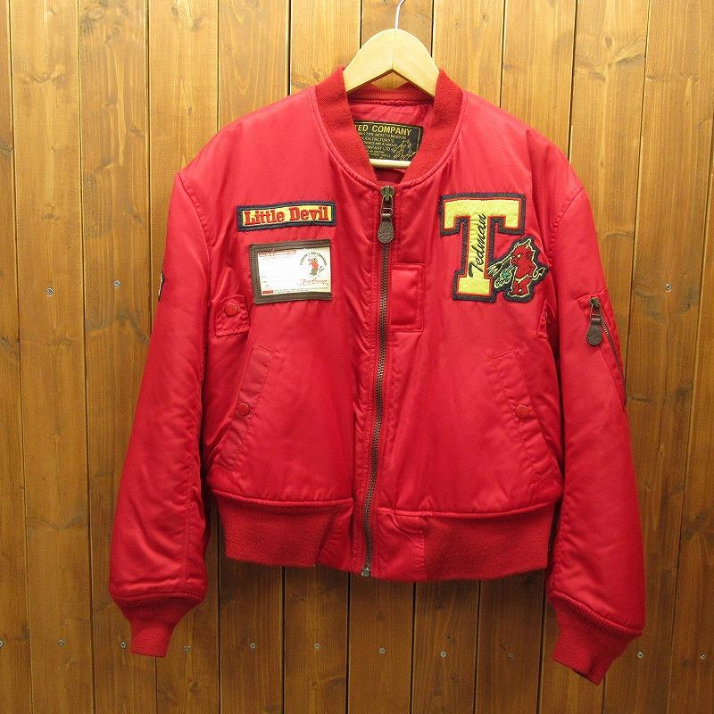 【中古】TED MAN テッドマン TED COMPANY  LITTLE DEVIL ジャケット サイズ:38 カラー:レッド / アメカジ【f093】