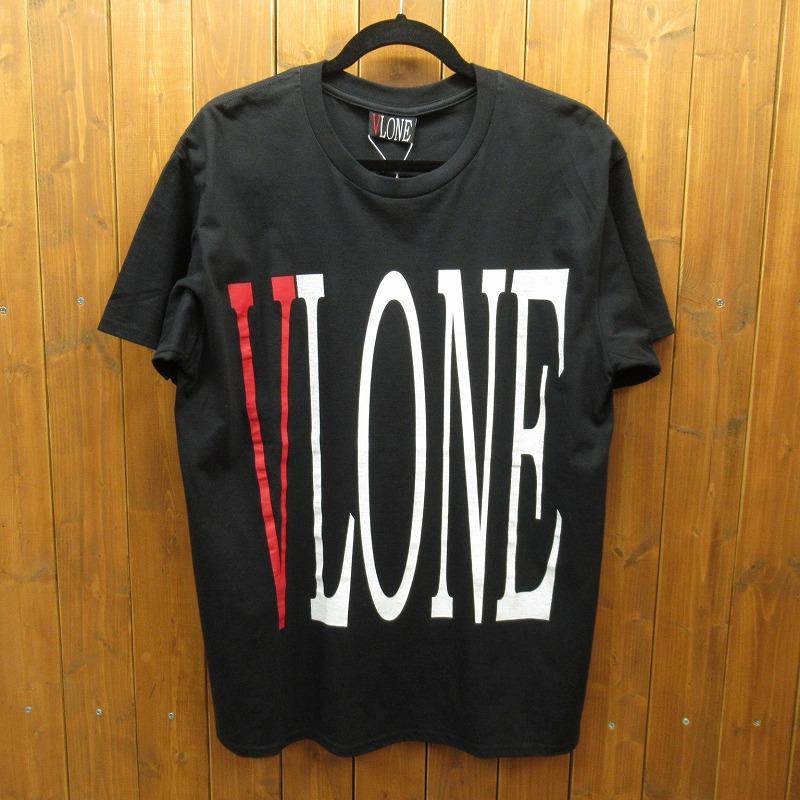 【中古】VLONE|ヴィーローン VLONE LOGO TEE ロゴTシャツ サイズ:L カラー:ブラック / ストリート【f103】