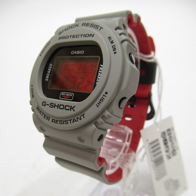 【中古】CASIO カシオ G-SHOCK ジーショック×SNEAKER FREAKER×STANCE DW-5700SF-1JR 腕時計 サイズ:ー カラー:レッド(文字盤)×グレー(ベルト)【f131】
