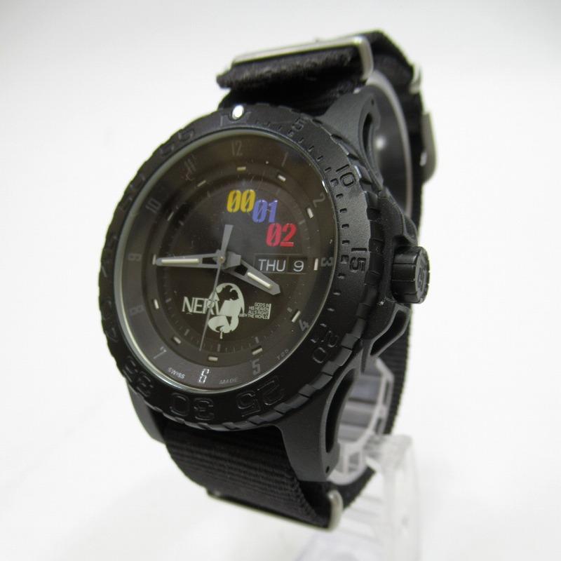 【中古】TRASER/トレーサー ×NERV エヴァンゲリオン P6600.41l.CX..01 腕時計 サイズ:ー カラー:ブラック(文字盤)×ブラック(ベルト)【f131】
