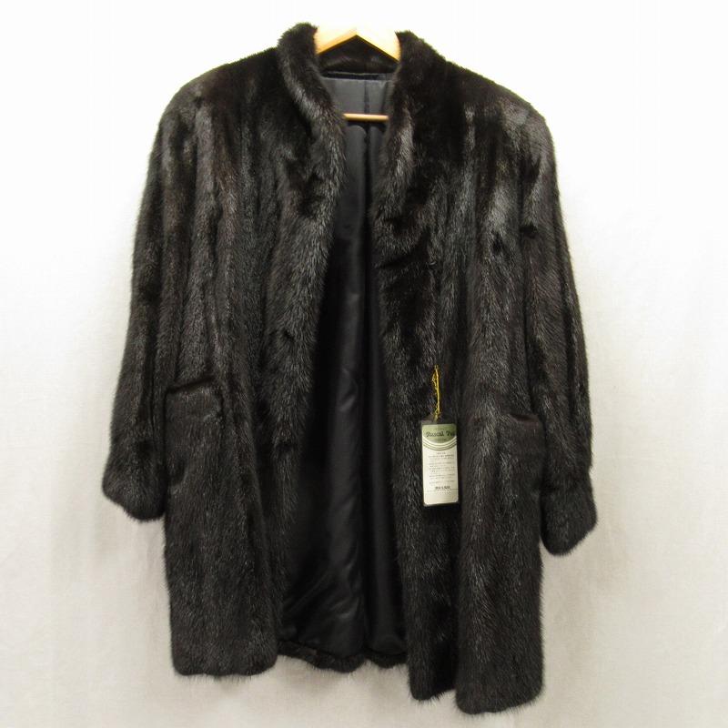 【中古】Rascal Fur/ラスカルファー ミンクファーコート サイズ:M カラー:ブラック【f113】