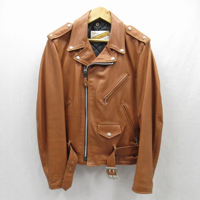 【中古】Schott/ショット レザージャケット サイズ:36 カラー:ブラウン / アメカジ【f093】