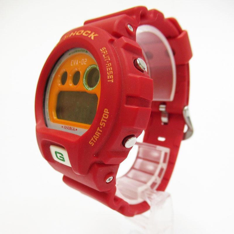 【中古】CASIO/カシオ G-SHOCK ジーショック エヴァンゲリオン アスカモデル DW-6900FS 腕時計 サイズ:ー カラー:レッド【f131】