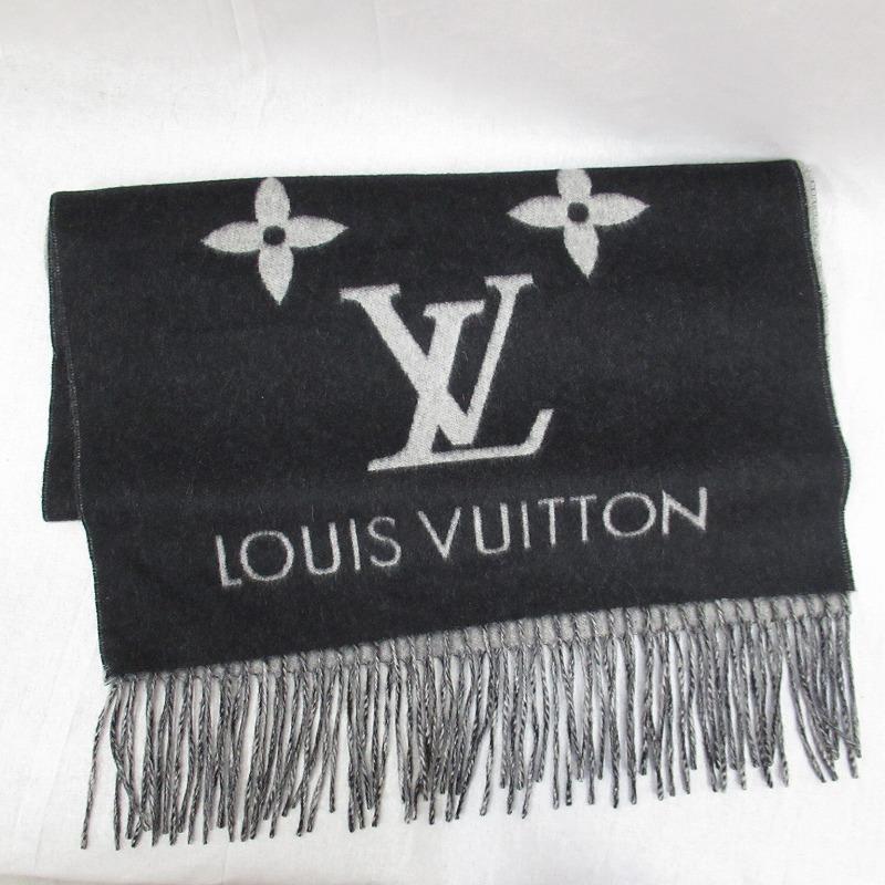 【中古】LOUIS VUITTON/ルイ・ヴィトン M71040 エシャルプ・レイキャビック マフラー サイズ:ー カラー:ブラック【f135】