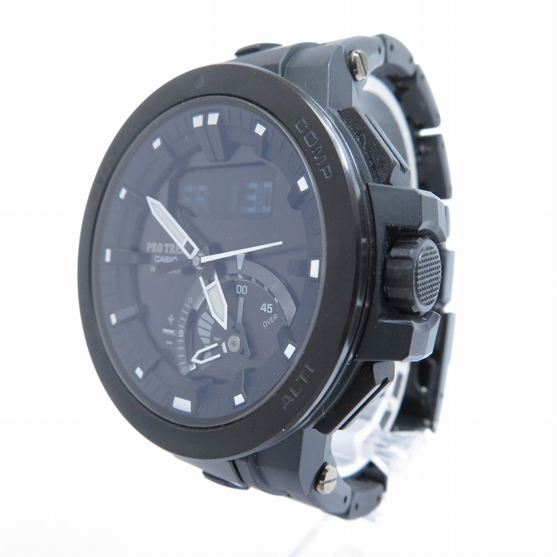 【中古】CASIO/カシオ PRO TREK/プロトレック PRW-7000FC 腕時計 サイズ:ー カラー:ブラック(文字盤)×ブラック(ベルト)【f131】