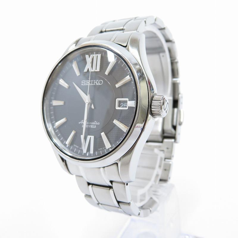【中古】SEIKO/セイコー プレサージュ 6R15-02F0 腕時計 サイズ:ー カラー:ブラック(文字盤)×シルバー(ベルト)【f131】