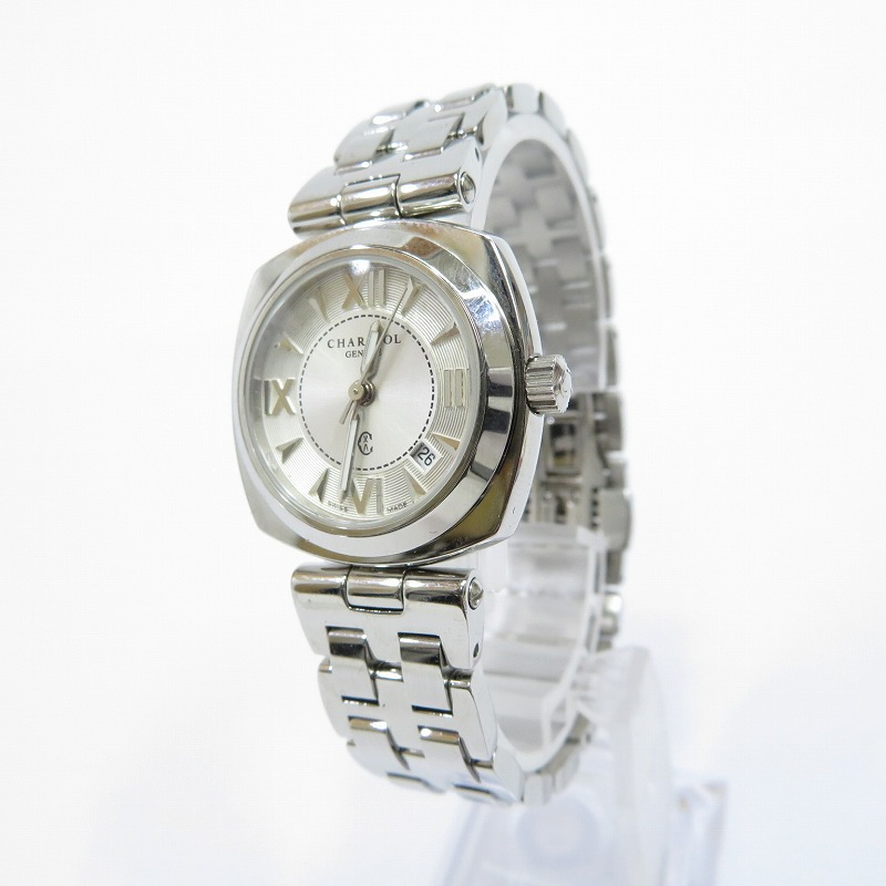 【中古】CHARRIOL/シャリオール ALEXS 腕時計 サイズ:ー カラー:ホワイト(文字盤)×シルバー(ベルト)【f131】
