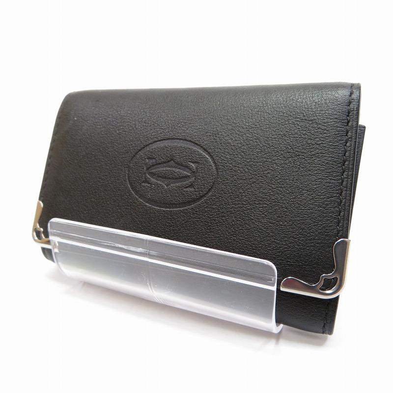 【中古】Cartier/カルティエ CRL3001359 MAST DE CARTIER/マスト ドゥ カルティエ 6連キーケース サイズ:ー カラー:ブラック【f125】