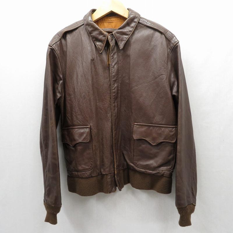 【中古】AVIREX/アビレックス A-2 レザージャケット サイズ:40 カラー:ブラウン / アメカジ【f093】
