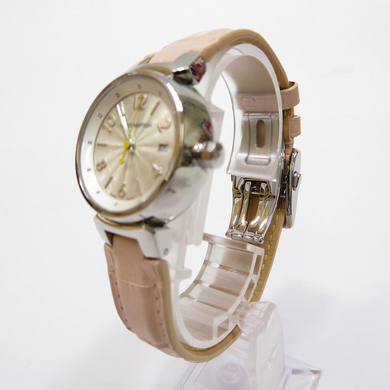 【中古】LOUIS VUITTON/ルイヴィトン Q121K タンブール ホログラム モノグラム 腕時計 サイズ:ー カラー:ホワイト(文字盤)×ピンク(ベルト)【f131】