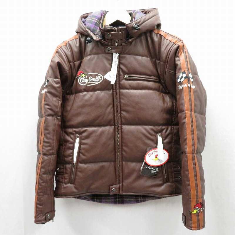【中古】CLAY SMITH/クレイスミス GENERAL PUレザージャケット サイズ:L カラー:ブラウン / アメカジ【f093】