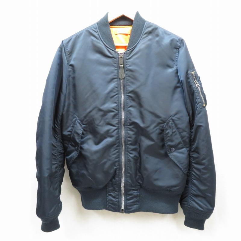 【中古】ALPHA/アルファ リバーシブルMA-1 フライトジャケット サイズ:M カラー:ネイビー/オレンジ / アメカジ【f093】