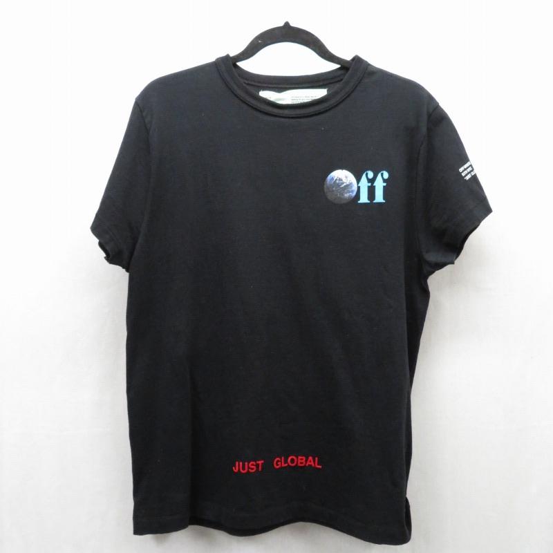 【期間限定】ポイント20倍【中古】OFF WHITE×KITH/オフホワイト×キス JUST GLOBAL TEE 半袖Tシャツ サイズ:XS カラー:ブラック / ストリート【f103】