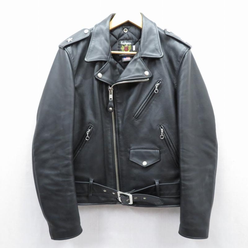 【中古】SCHOTT/ショット ワンスター レザーダブルライダースジャケット サイズ:40 カラー:ブラック / アメカジ【f093】