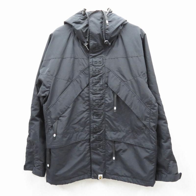 【中古】A BATHING APE/アベイシングエイプ スノーボードジャケット サイズ:S カラー:ブラック / ストリート【f095】