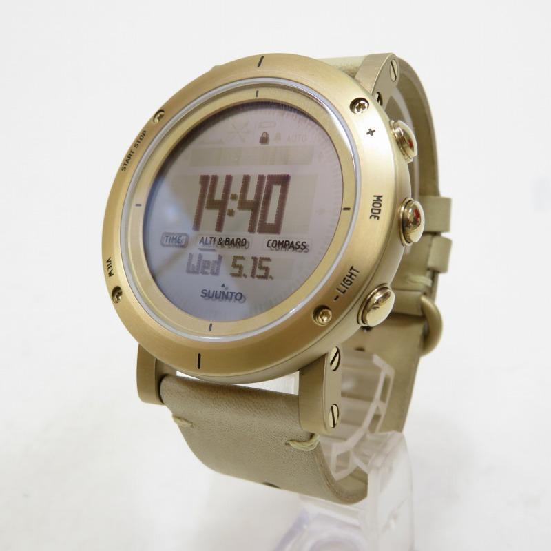 【中古】SUUNTO/スント ESSENTIAL GOLD SS021214000 腕時計 サイズ:ー カラー:ゴールド【f131】