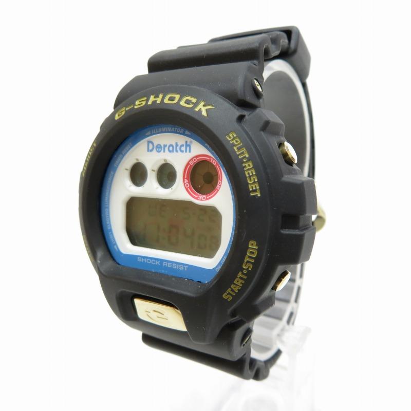 【中古】CASIO/カシオ G-SHOCK ジーショック DW6900 Doratch ドラえもん 腕時計 サイズ:ー カラー:ホワイト(文字盤)×ブラック(ベルト)【f131】