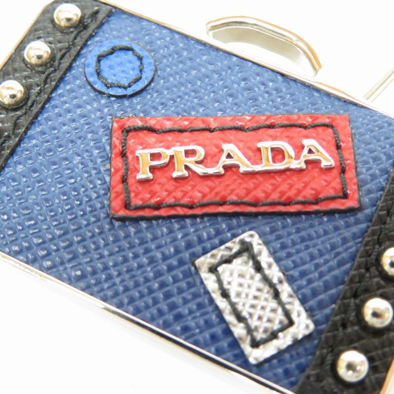 PRADA プラダ メタル サフィアーノレザー キーリング キーホルダー サイズ ー カラー シルバー f135TJlF1Kc3