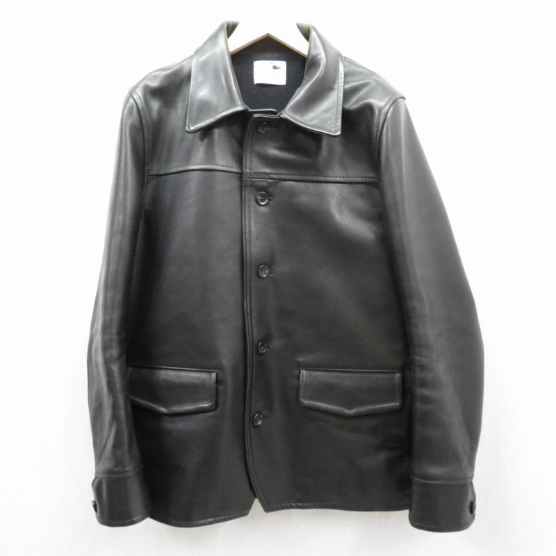 【中古】GANGSTERVILLE/ギャングスタービル レザージャケット サイズ:XL カラー:ブラック / ルード【f096】