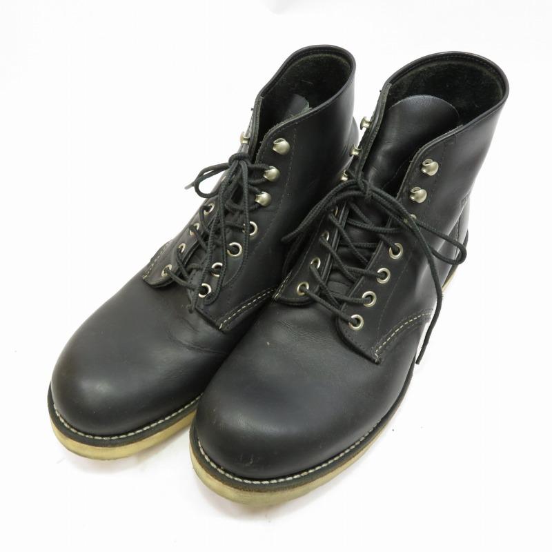 【中古】REDWING/レッドウィング 8165 6inch CLASSIC PLAIN TOE ブーツ サイズ:27.0cm カラー:ブラック【f127】