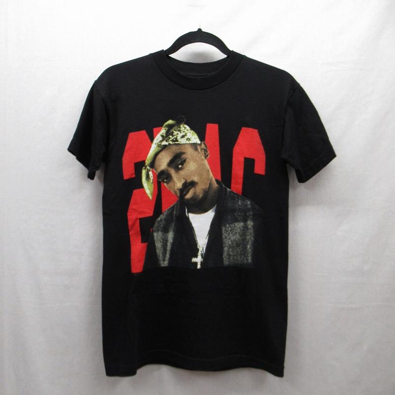 【中古】VLONE|ヴィローン 2PAC フォトプリントTシャツ サイズ:S カラー:ブラック / ストリート【f103】
