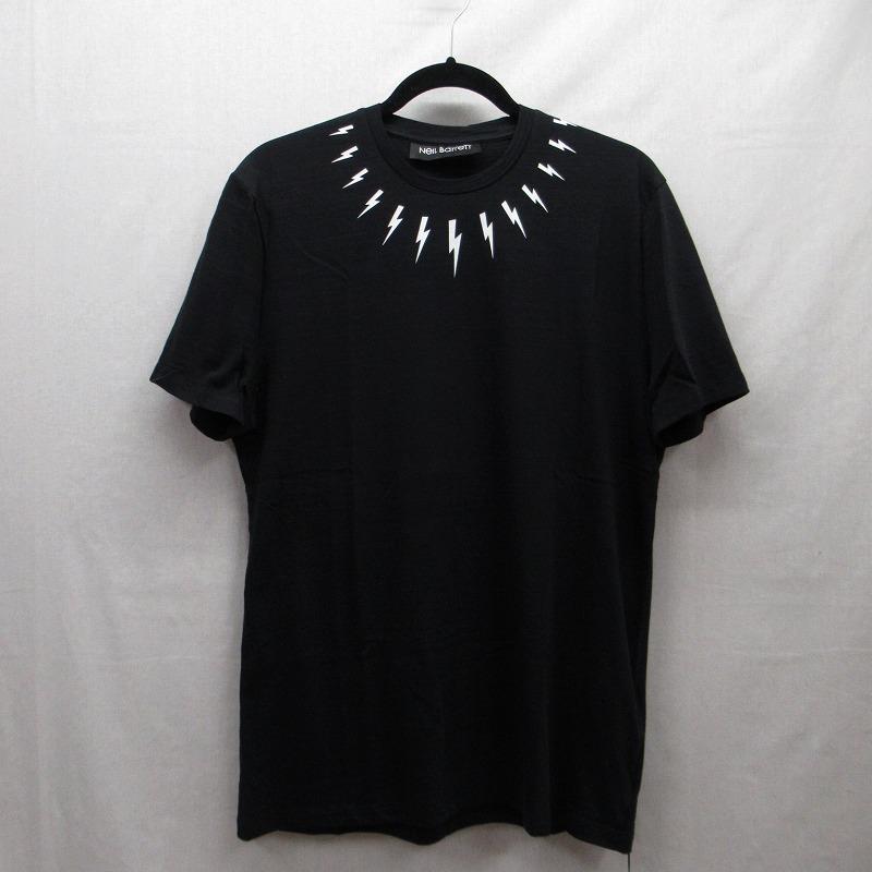 【中古】Neil Barrett|ニールバレット THUNDERBOLT Tシャツ サイズ:M カラー:ブラック / インポート【f108】