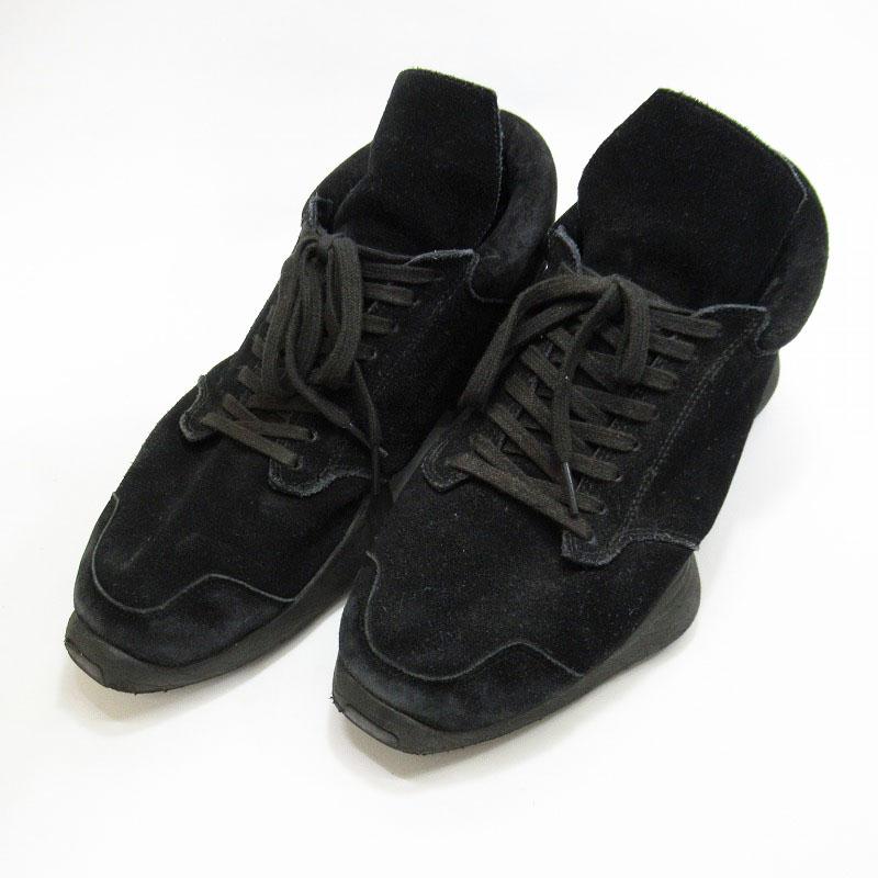 【中古】adidas|アディダス ADIDAS BY RICK OWENS TECH RUNNER SNEAKERS S74569 スニーカー サイズ:27.5cm カラー:ブラック【f126】