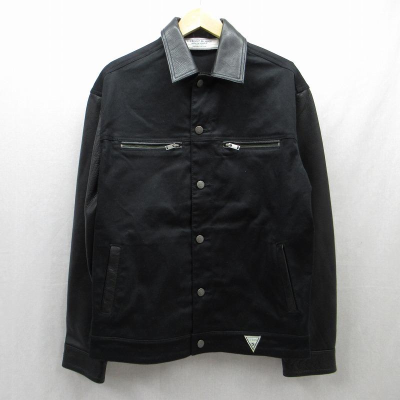 【中古】GUESS|ゲス GUESS Originals 1981 LEATHER BLOCKED JACKET ジャケット サイズ:S カラー:ブラック / インポート【f094】