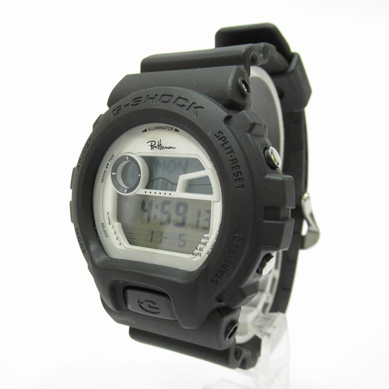 【中古】CASIO/カシオ Ron Herman×G-SHOCK/ロンハーマン×G-ショック GLX-6900-1JF 腕時計 サイズ:ー カラー:ブラック(文字盤)×ブラック(ベルト)【f131】