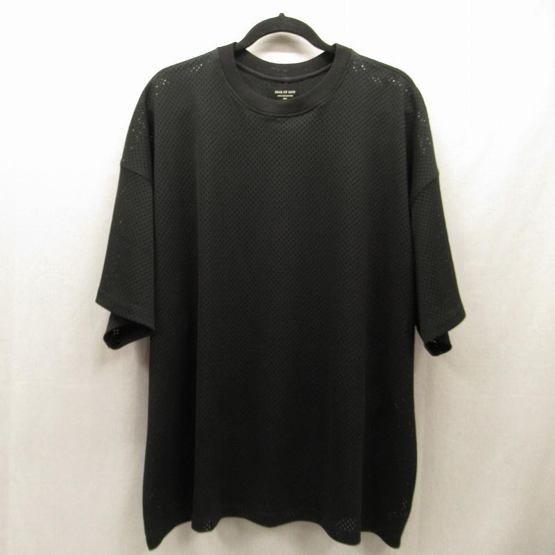 【中古】FEAR OF GOD/フィアオブゴッド FIFTH COLLECTION メッシュTシャツ サイズ:L カラー:ブラック / ストリート【f103】