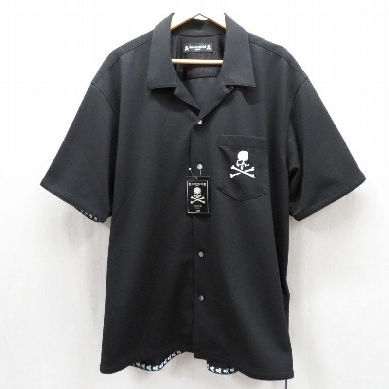 【期間限定】ポイント20倍【中古】mastermind JAPAN/マスターマインドジャパン 19SS ハイゲージ鹿の子 半袖シャツ サイズ:XL カラー:ブラック / ドメス【f104】