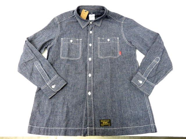 WTAPS/ダブルタップス 16AW UNION LS 02 シャンブレーシャツ 162GWDT-SHM04/ブラック/Mサイズ