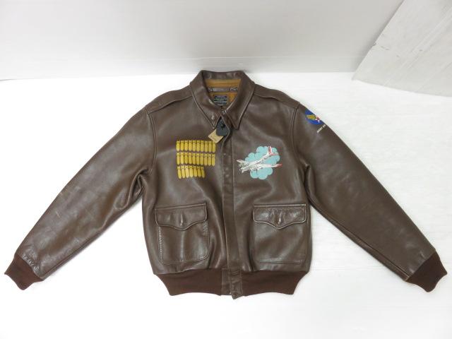 REAL McCOYA-2 フライトジャケット 30-1415 ブラウン サイズ:40 ※中古