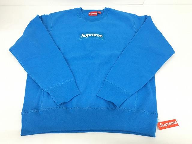 【未使用】Supreme シュプリーム 18AWBox Logo Crewneck Sweatshirtボックスロゴ クルーネックスウェットトレーナーBright Royal ブルー Mサイズ【長崎時津店】