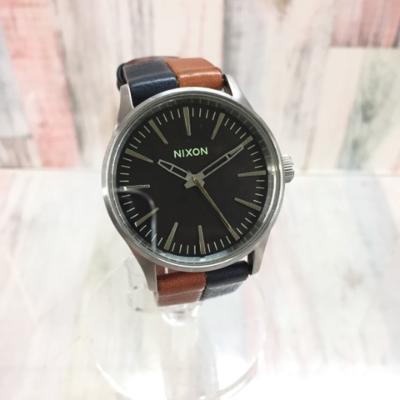 NIXON ニクソン 腕時計 Sentry 38 Leather Dark Copper A3771957【中古】10FF1202213 古着 ファッション 時計
