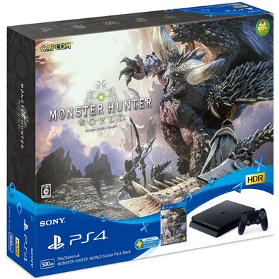 【中古】SONY PlayStation 4 MONSTER HUNTER: WORLD Starter Pack Black CUHJ-10022 PS4