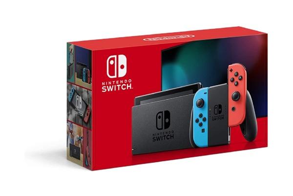 直輸入品激安 未使用 Nintendo Switch Joy-Con L ネオンブルー お洒落 ネオンレッド 加納店 バッテリー持続時間が長くなったモデル R