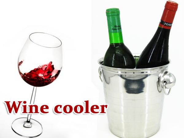 冷やしたワインを長く保冷します ワインクーラー アルミ製 シャンパン 最安値挑戦 送料無料 セットアップ ###ワインクーラーXHXBT### アイスペール