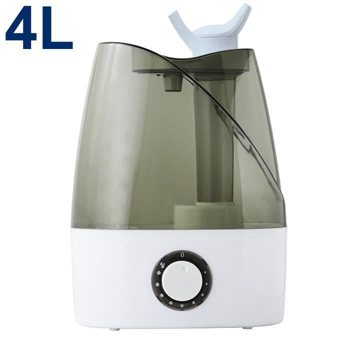 清潔ミストで快適加湿 2つのノズルでお部屋の隅々まで潤う 加湿器 大特価!! 次亜塩素酸水対応 超音波式加湿器 静音 2方向吹出し 4L 大容量 アロマディフューザー 超音波 エコ 床置き 予防 まとめ買い特価 オフィス 送料無料 ###Oasis加湿器J35### うるおい Oasis インテリア おしゃれ 卓上