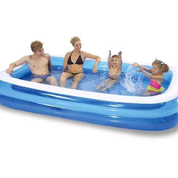プール ビニールプール ファミリープール 大型 260×170cm 2気室 クッション性 水あそび レジャープール 家庭用プール 子供用プール 送料無料 お宝プライス<BR>###プールAPL102-N###