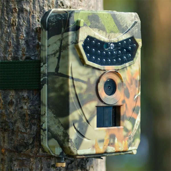 トレイルカメラ 防犯カメラ ハンティングカメラ 12MP画素 1080P フルHD 電池式 IP56防水防塵 赤外線 動体検知 夜間撮影 防犯 送料無料 お宝プライス ###トレイルカメラR-100###