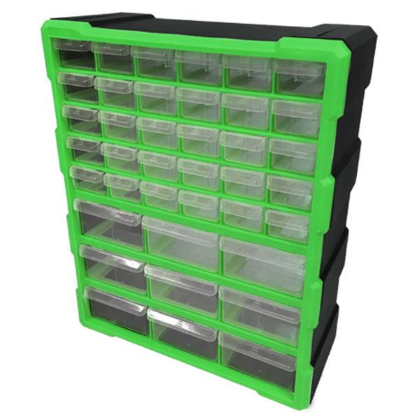 パーツボックス ケース 新着 コンテナボックス コンテナ 収納 ツールボックス お買い得品 工具箱 パーツケース 引き出し 39個 小物収納 お宝プライス ###工具箱PB002緑### 送料無料 キャビネット