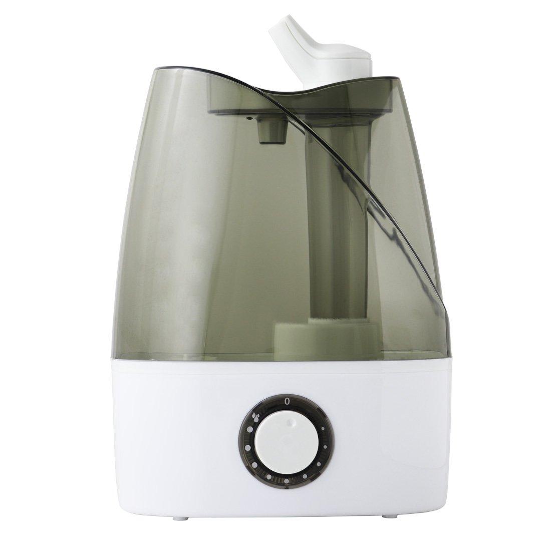加湿器 卓上 床置き オフィス 寝室 超音波加湿器 大容量 4L 静音 アロマ対応 2方向吹き出し口 ミスト量無段階調節 Oasis加湿器J35###Oasis加湿器J35###